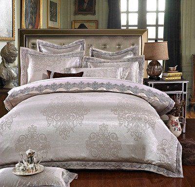 Silver Luxury Duvet Cover Set