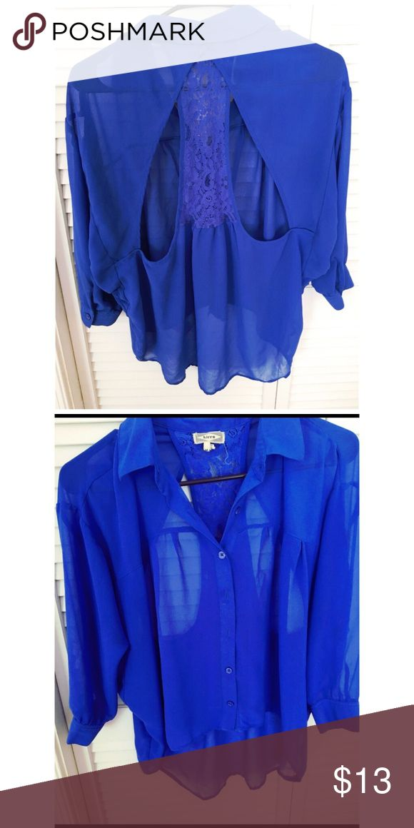 Royal Blue Blouse This shirt is low in the back and high in the front. Adorable with white pants 💙 Tops Blouses
