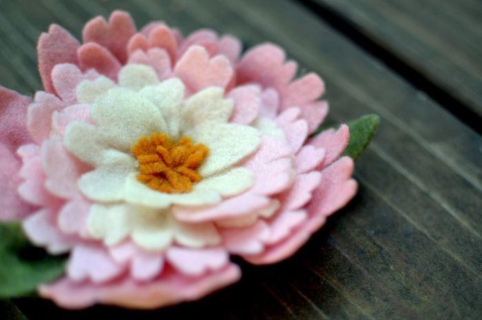 http://handmadekursytutoriale.blogspot.com/2013/02/kwiaty-z-filcu-jak-zrobic.html