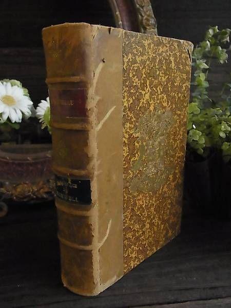 Books フランスアンティーク1897年背表紙革洋書 インテリア 雑貨 家具 Antique ¥1000yen 〆07月17日