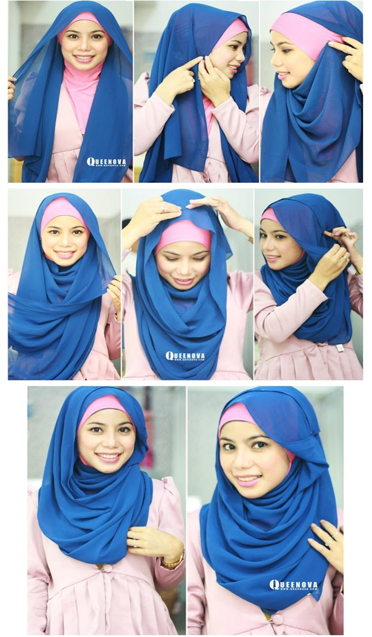 17 Best Images About Hijab Tutorial On Pinterest Simple Hijab Tutorial Hijab Styles And Style