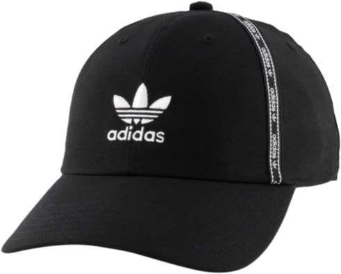 best service 4eda7 c92b8 Adidas Originals adidas Originals Precurved Taped Trefoil Cap - Mens - Black