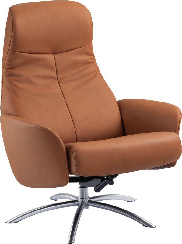 Hvilestol, recliner og suppleringsstolSvalbardstolHud gr 1 9032 Cognac