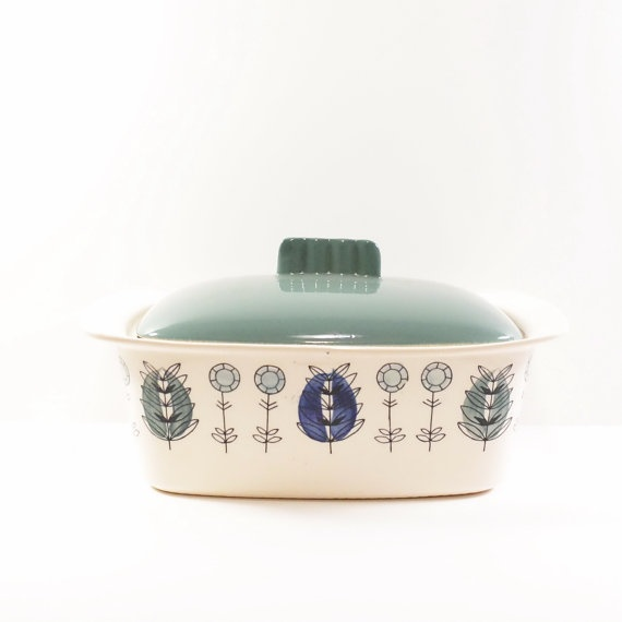 Norway Egersund  Serving Dish Casserole with Lid Marianne Westman