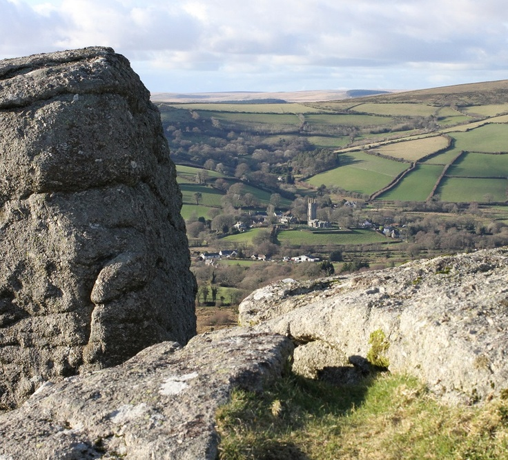 View of Widecombe from Tunhill Rocks