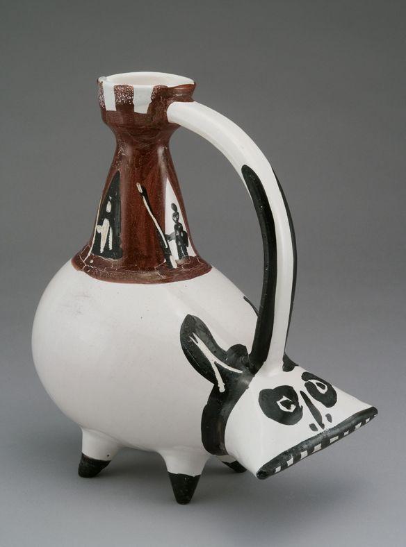 Fig 5. Pablo Picasso, Vase zoomorphe, la Tarasque (Zoomorphic vase, the Tarasque)