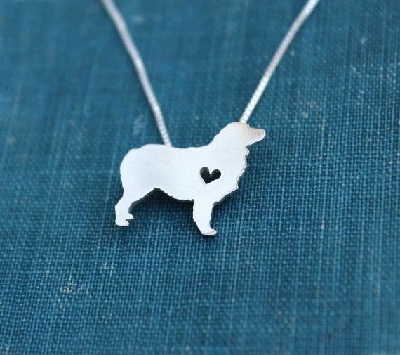 Australian Shepherd necklace sterling silver by justplainsimple