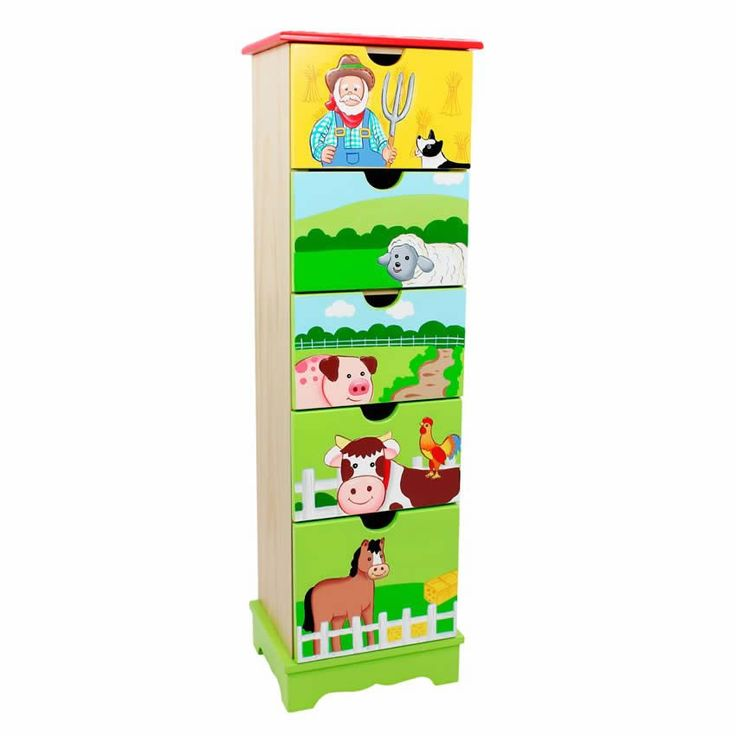 Happy Farm 5 Drawer Cabinet www.sweetretreatkids.com #sweetretreatkids #5drawercabinet #kidscabinet #kidsstorage #kidschest