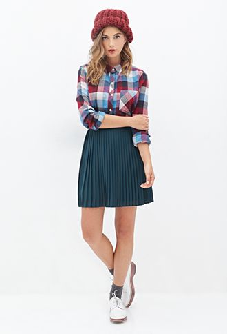 Multi-Color Check Shirt | FOREVER21 - 2000120249