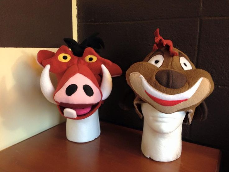 Timon and Pumbaa hat for Disney World's Animal Kingdom. Designed by Erin Ridle
