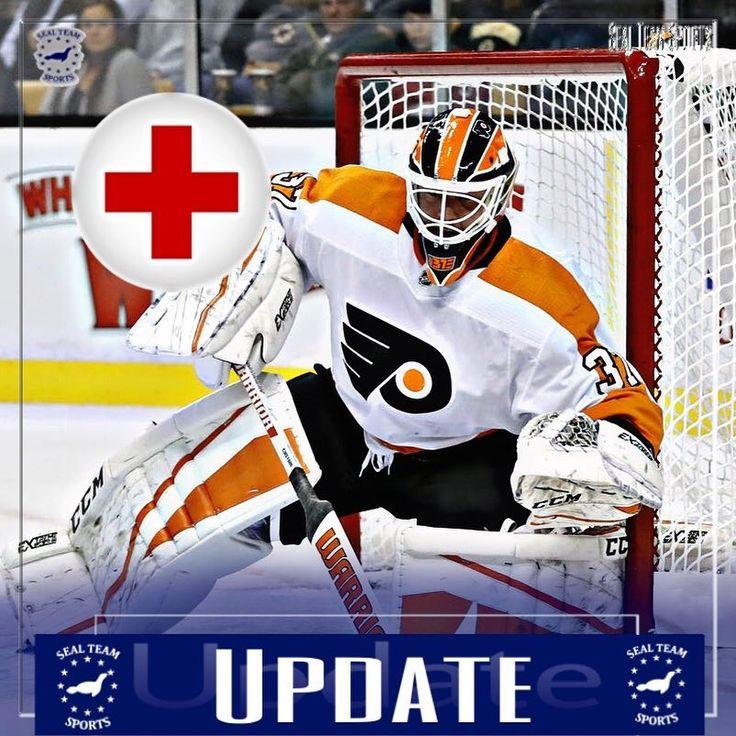 New Update!: Goalie for the Flyers Brian Elliot will be out 5-7 weeks after having abdominal surgery #brianelliott #nhl #flyers #hockey #philadelphiaflyers #elliot #goalie