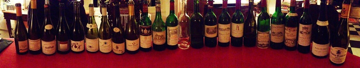 Montée de Bouffant 08  Château Grillet 07  Grande Cote 05 P. Cotat  Domaine Richaud 09  Cuvee Edmond A.Mellot 05  Corton Maillard 06  Meursault 00 F.Gaunoux  Antique 11 F.Mollet  OakValley 11 Elgin Chardonnay  Mouton Rothschild 94  Haut Brion 71  Eglise Clinet 90  Saint Florin blanc 12  Saint Florin rosé 12  Lafite Rothschild 94  Pontet-Canet 85  Latour 85  Mika 11 Elgin Afrique du Sud  Le Gay 90  Simone 07 Blanc  Leoville Lascaze 90  Egly Ouriet 08  Valmur 11 Droin Chablis