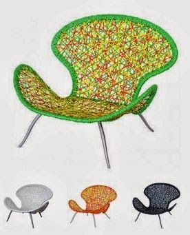 It's colourful and the Chelsea lounge chair would suit any indoor or outdoor area. Made from the best possible materials available - viro fiber thick powdercoated and rust free aluminium frame.  Comes with an optional seat cushion and is available in 4 different colours (white, balck, green and orange).  http://stylishoutdoors.com.au/Lounges/Lounges-chairs/chelsea-loungechair