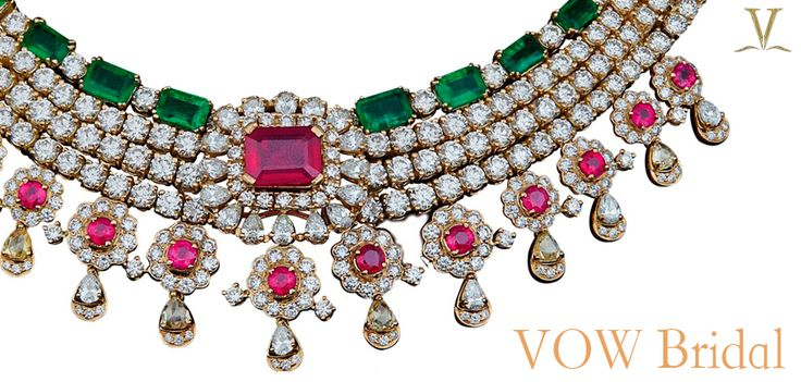 Bridal necklaces by the Adornologist, Varuna D Jani.