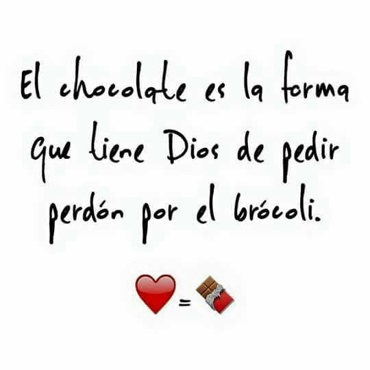 El chocolate..