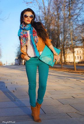 dark teal jeans outfits - Google Search