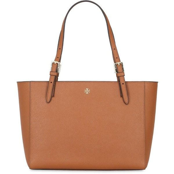 Tory Burch Women Small York Saffiano Leather Tote Bag ($295) ❤ liked on Polyvore featuring bags, handbags, tote bags, tan, tote purses, tory burch tote bag, beige purse, tory burch purse and tote handbags