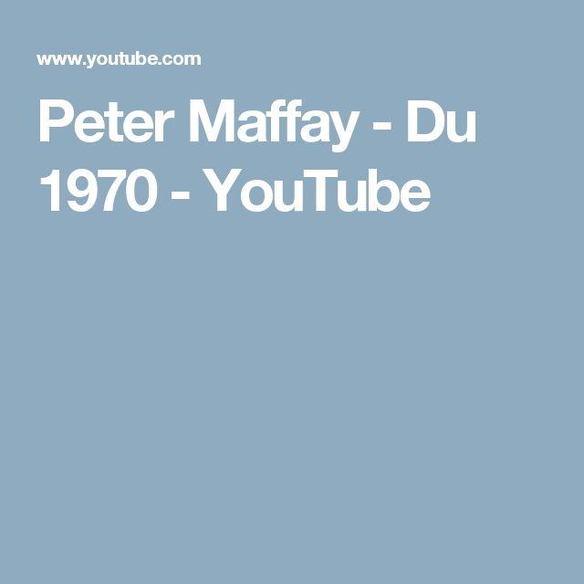 Peter Maffay - Du 1970 - YouTube