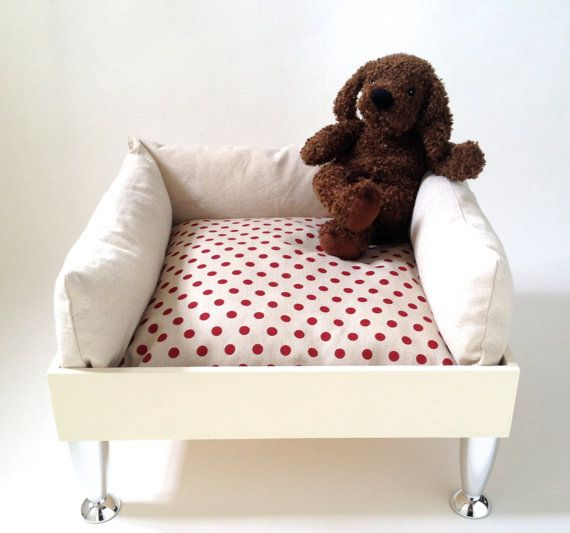 Red pois modern pet armchair by ArtesStudio on Etsy