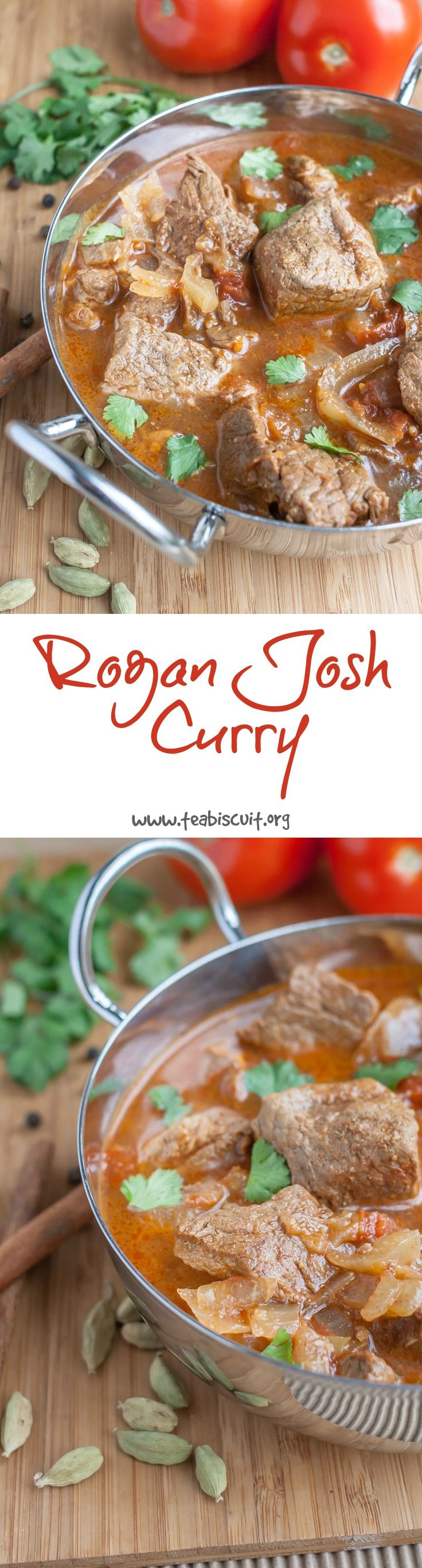 Delicious, easy Beef Rogan Josh Curry! Gluten free, dairy free and Paleo | www.teabiscuit.org
