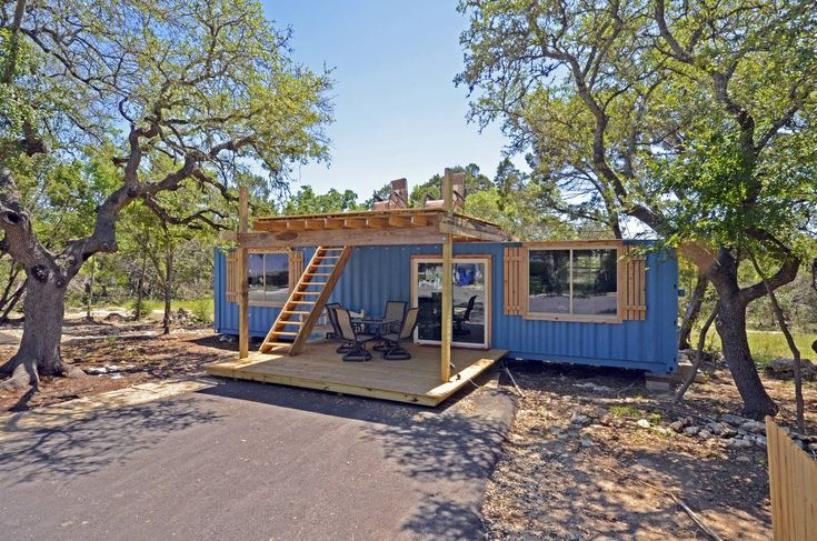 Container home fully finished in leander texas nw austin with electric plumbing compost - Container homes austin ...