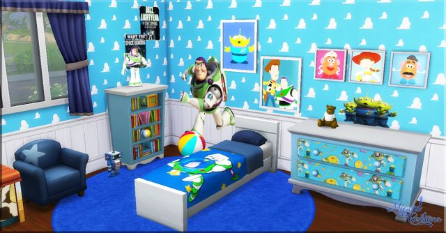 sims 4 cc s the best toy story bedroom set by miguel toy story toddler bedroom boy s bedroom ideas
