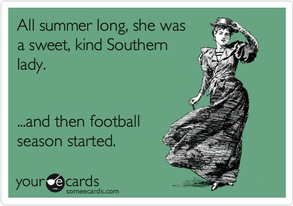 I don't think I'm normally a sweet kind Southern lady, but I know I am not when the Colts are playing.