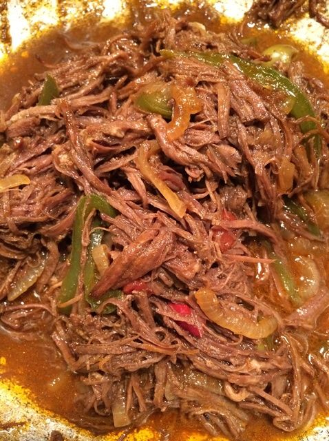Ropa Vieja/Shredded Flank Steak in Tom. Sauce