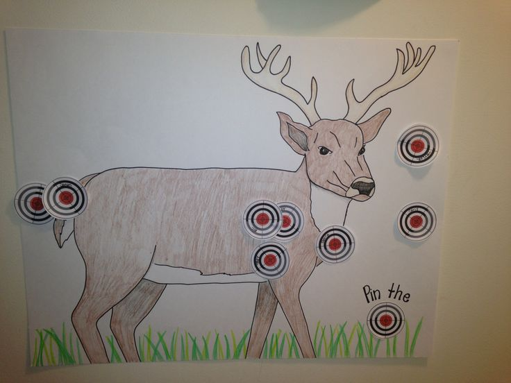 """Pin the Target on the Deer""- a game I made for my son's Hunting Birthday Party"