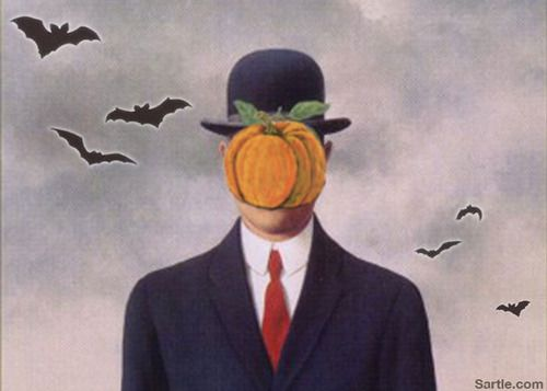 The Son of Pumpkin by Rene Magritte
