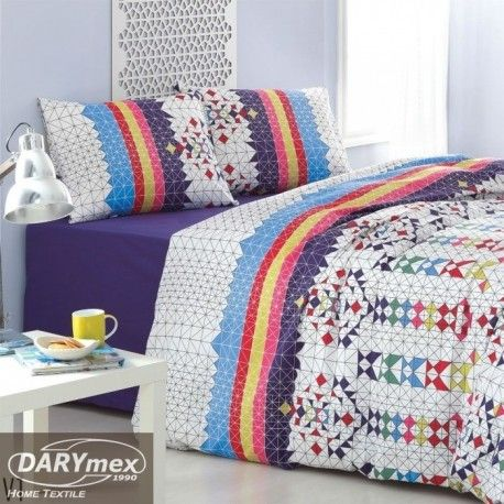 blue, white, yellow, navy cotton bedlinen, A vivid and unique colors and a variety of trendy designs ensures that the bedding will be a great addition to any modern interior. more on darymex.com