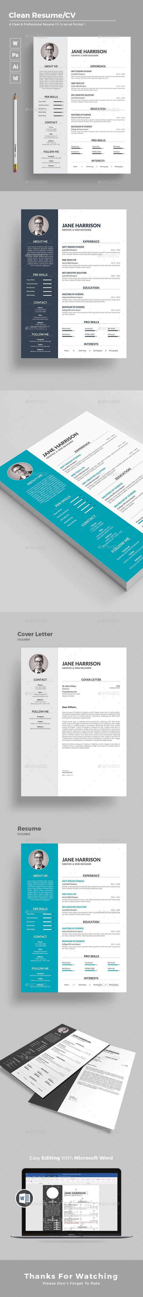 cover letter template for receptionist%0A  Resume  Resumes Stationery Download here  https   graphicriver net