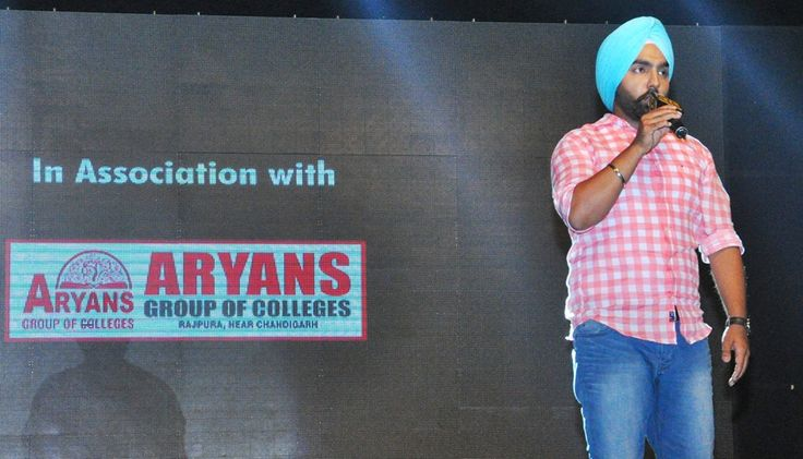 """Ammy Virk rocked the stage during """"YO ! YO ! Honey Singh Starrer-Zorawar Promotional Tour"""" organized by PTC in association with Aryans Group of Colleges, Chandigarh at Government College for Women, Ludhiana. #AryansGroupofColleges #PTC #ZorawarPromotionalTour #AmmyVirk #ZindabaadYaarian #HaanKargi"""