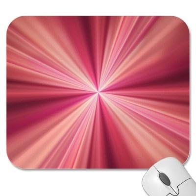 Pink Rays Fractal Art Mousepad $11.60