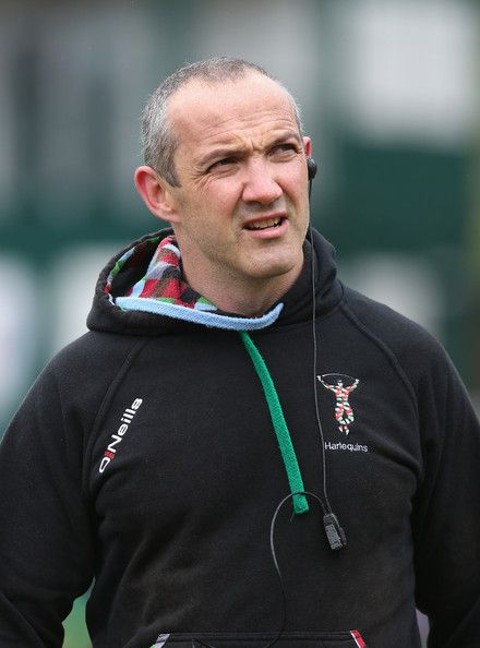 Conor O'Shea Photos Photos - Conor O'Shea, the Harlequins director of rugby looks on during the Aviva Premiership semi final match between Leicester Tigers and Harlequins at Welford Road on May 11, 2013 in Leicester, England. - Leicester Tigers v Harlequins