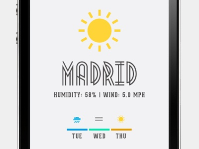 The Weather Mobile App by Sabato, via Behance