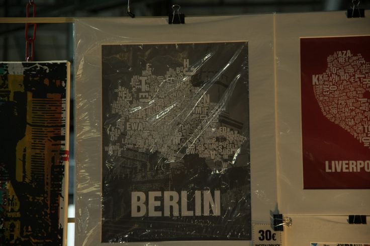 Map of Berlin, made entirely with typo, seen at Berlin Maker Faire.