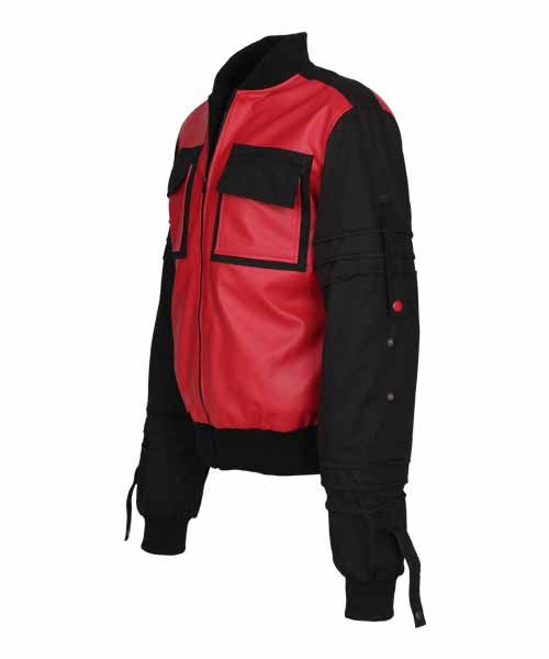 Red and Black Leather Varsity Jacket | Leather Jacket US http://leatherjacketus.com/product/red-and-black-leather-varsity-jacket/