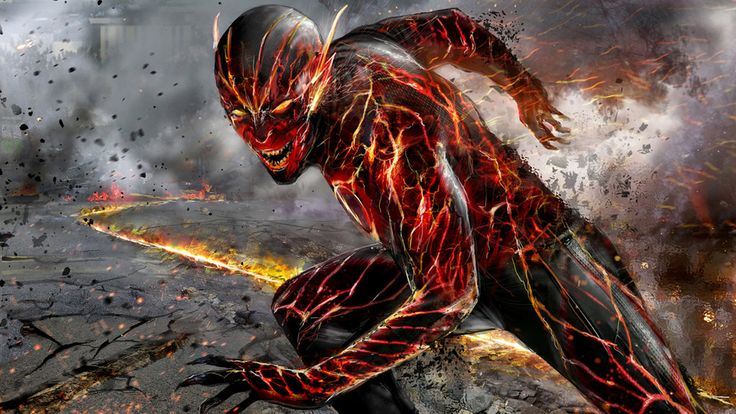 Concept piece for New 52 Reverse Flash. Not used - clearly lol - but still fun to tackle this one as an exercise.