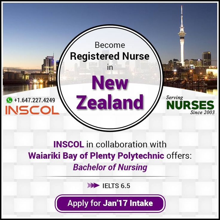 Great Opportunity for #Nurses who wants to 'Study, Work and Live' in #NewZealand. Enrol now for Jan'17 intake.