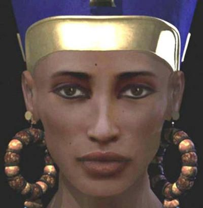 Is this Queen Nefertiti? With Egyptology, one can never be sure, but archeologist Joann Fletcher made a strong case that a mummy found in a sealed crypt may be the queen. For the facial reconstruction, two British forensic experts worked blind and came up with the above rendering without knowing whose skull it was. It bears a strong resemblance to the famous bust of the queen. One thing's for sure: with that long neck, delicate bones, and full lips.