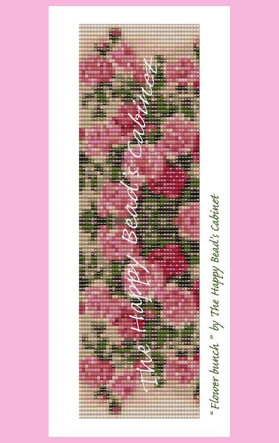 Bead Loom Pattern Flower bunch INSTANT by TheHappyBeadsCabinet