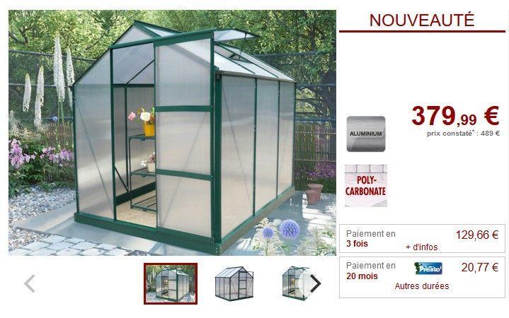 Serre De Jardin Polycarbonate 3 4 M Giardina Avec Embase Pas Cher Serre De Jardin Vente Unique 3 4 Avec Cher De Embase Giardina In 2020 Greenhouse Garden