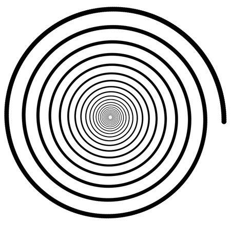 Spirál: az emberi fejlődés és az örvénylés jele, ha jobbra irányul, akkor a teremtő, ha balra, akkor a romboló erőket szimbolizálja. A lélek evolúciója is ilyen spirális vonalban halad: körben mozog, ugyanakkor ciklusonként mindig egy szinttel feljebb lép. Fejlődésünk során ezért könnyű a visszaesés, vagy csúszás.