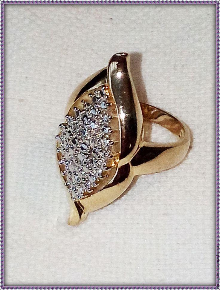 Купить Винтажное серебряное кольцо - серебряный, золото, кольцо, винтаж, винтажный стиль, винтажные украшения