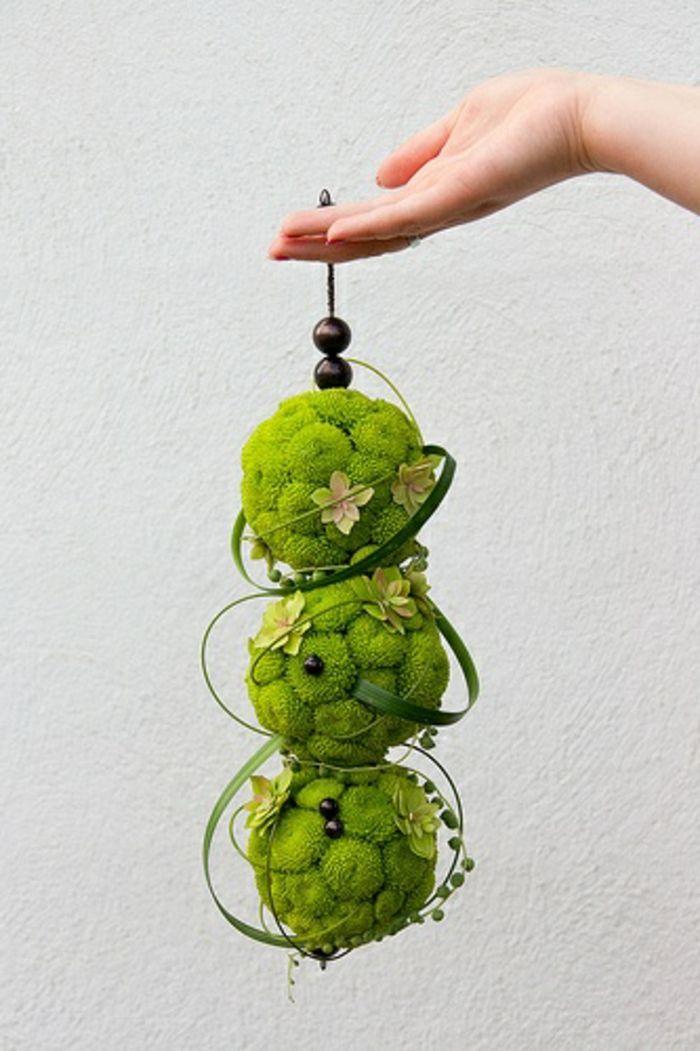 art floral moderne, bouquet pendant