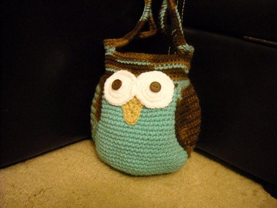 Crocheted Owl Bag #crochet