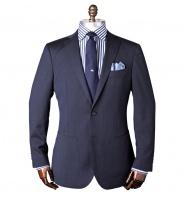 Wood Dobby Navy Suit