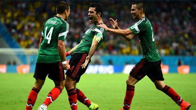 Rafa Marquez tercer mundial consecutivo marcando gol