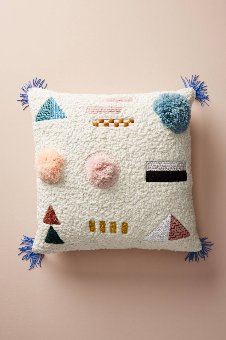 Embellished Shape Study Pillow - Anthropologie